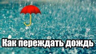 ЛАЙФХАК: Как переждать дождь?