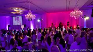 American Cancer Society White Out Gala 2016 Karma Event Lighting