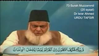 73 Surah Muzzammil Dr Israr Ahmed Urdu