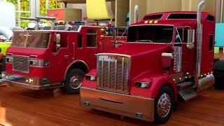 Les camions et les peintures. Apprenons les couleurs. Dessin animé