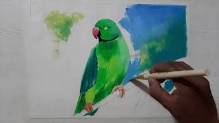 HOW TO PAINT A PARROT/PARROT OIL PAINTING/BIRD ART/REALISTIC OIL PAINTING/