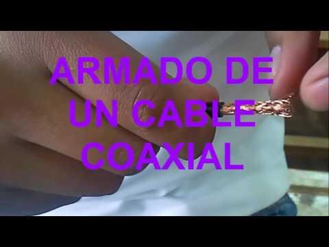 COMO ARMAR UN CABLE UTP Y COAXIAL