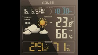 Govee Wireless Weather Forecast Station Outdoor Sensor Digital Temperature  Humidity Gauge Clock