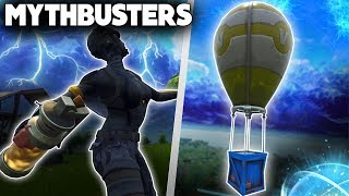 Does The Stink Bomb Damage Supply Drops? | Self Rocket Riding? | Fortnite Mythbusters [25]