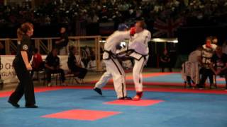 itf taekwondo world championships  scott owen fight 2 round 2