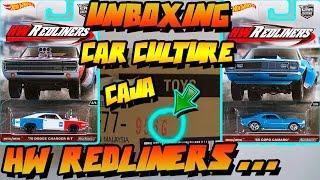 """UNBOXING - HOT WHEELS CAR CULTURE """"CAJA/CASE G"""" - HW REDLINERS"""