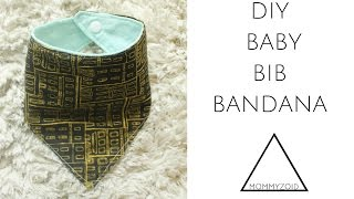 DIY BABY BIB BANDANA | MOMMYZOID