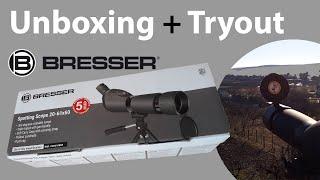 Bresser Spotting Scope 20-60X60 - Unboxing + Tryout