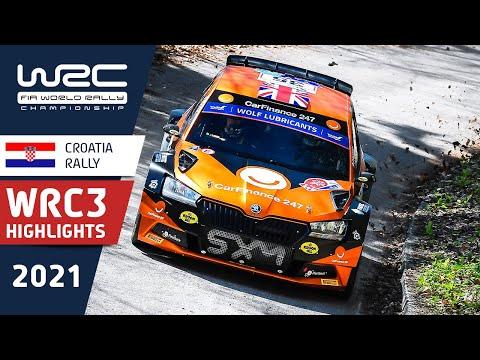 WRC3 2021 第3戦ラリー・クロアチア Day1ハイライト動画