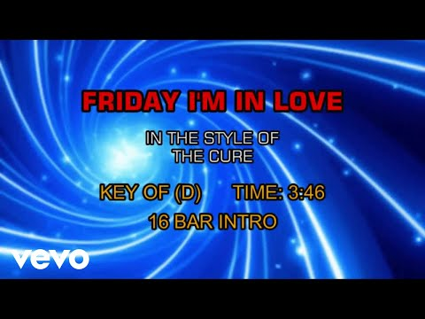 The Cure - Friday I'm In Love (Karaoke)