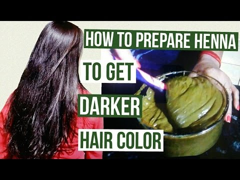, title : 'How to prepare henna to get darker hair color | Henna Pack for Deep Brown Hair Color'