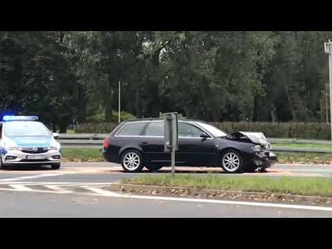 Wideo: Zderzenie audi i renault w Lubinie