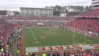 Purple and Gold Chant at Carter-Finley Stadium - 2013