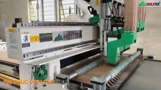 MÁY CNC NESTING 4 Đầu Holztek Cắt Ván Công Nghiệp làm hàng Nội Thất