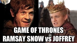 Game of Thrones Cast - Who is worse Joffrey or Ramsay Snow?
