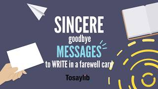 Sincere goodbye messages to write in a farewell v2