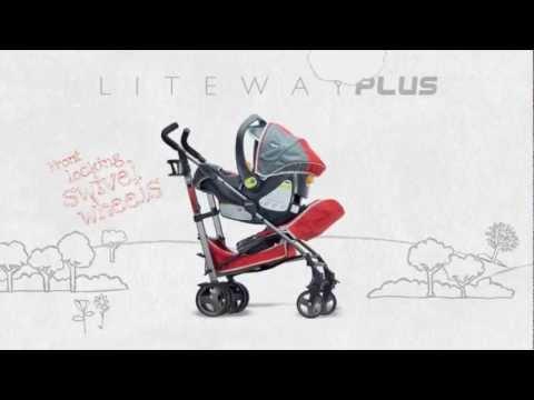 عربة اطفال لايت واي كومبليت مع حاجز صدمات لون اخضر | شيكو