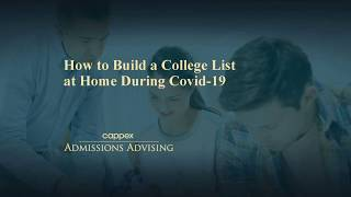 How to Build a College List at Home During COVID-19