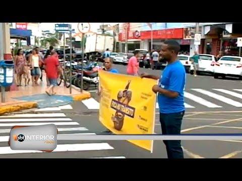 Em Birigui Campanha alerta sobre os perigos no trânsito
