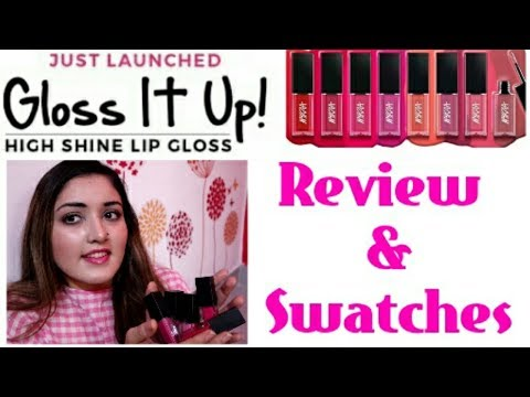 Nykaa Gloss it Up! High Shine Lip Gloss || Review and Swatches