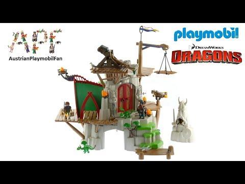Vidéo PLAYMOBIL Dragons (DreamWorks) 9243 : Campement de l'île de Beurk