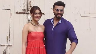 ARJUN KAPOOR AND KRITI SANON ALONG WITH THE HOST SIDDHARTH KANNAN SPOTTED AT MEHBOOB STUDIOS