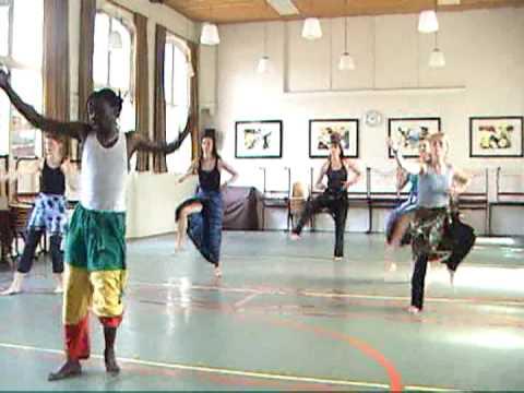Adama Diop dance class sabar