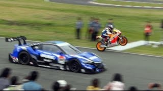 [HD]史上初!NSX CONCEPT-GT vs RC213V エンジョイホンダ熊本2014
