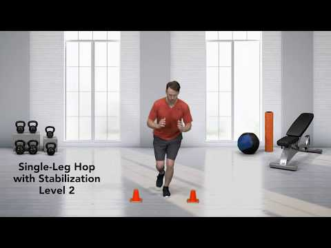 How to do a Single-Leg Hop Stabilization Level 2