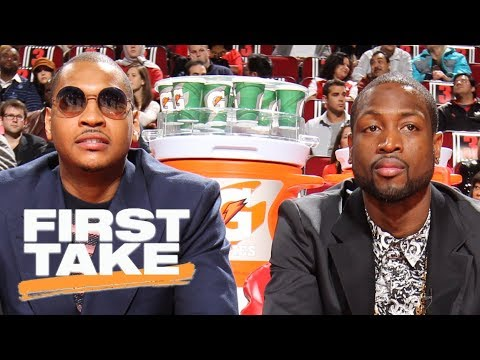 Carmelo Anthony or Dwyane Wade: Who was bigger pick-up? | First Take | ESPN