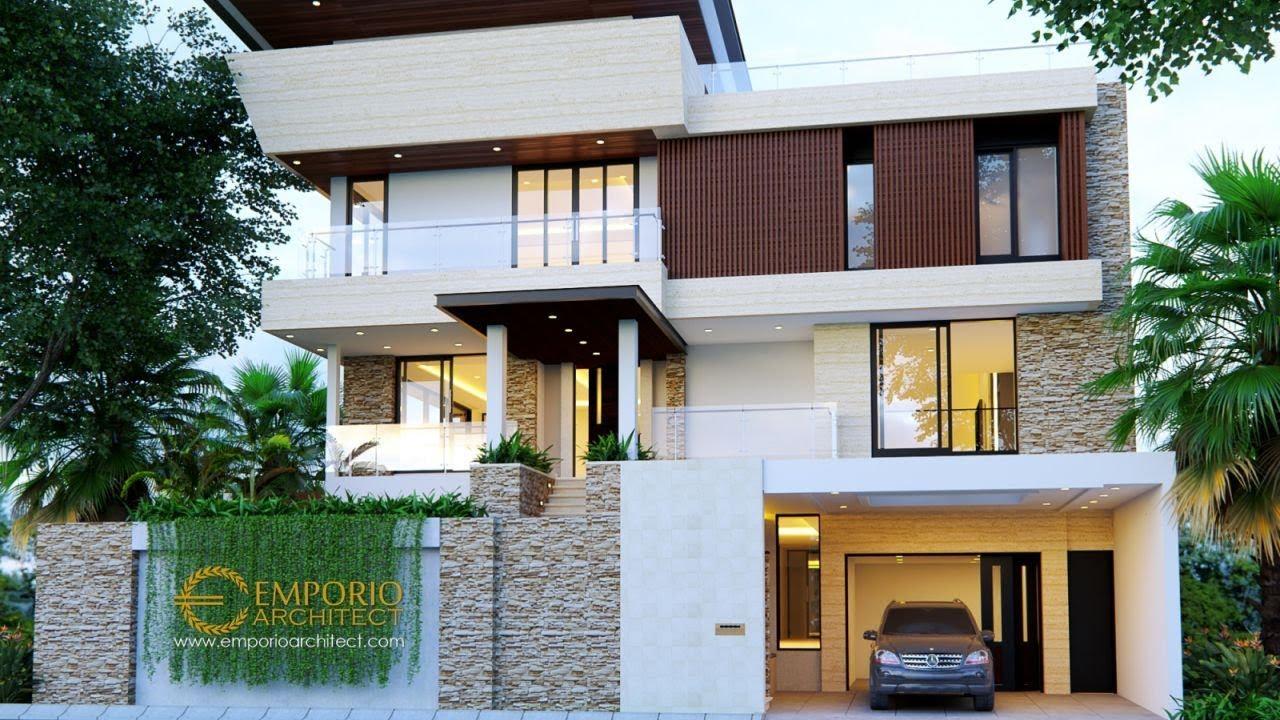 Video 3D Desain Rumah Modern 3 Lantai Ibu Shirly - Tangerang