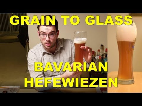 Brewing a Bavarian-style German Hefeweizen - Grain to Glass