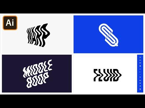 Warp Text in Adobe Illustrator   Make with Mesh   Graphic design