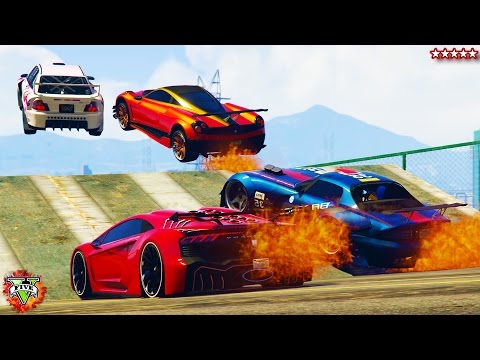 GTA 5 Super Cars On Fire Epic Races Fun Explosions