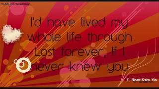 Tiffany Thornton - If I Never Knew You (Lyrics on Screen) + Download HQ