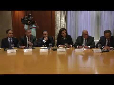وزير التجارة والصناعة في اجتماع موسع مع أعضاء غرفة التجارة الأمريكية