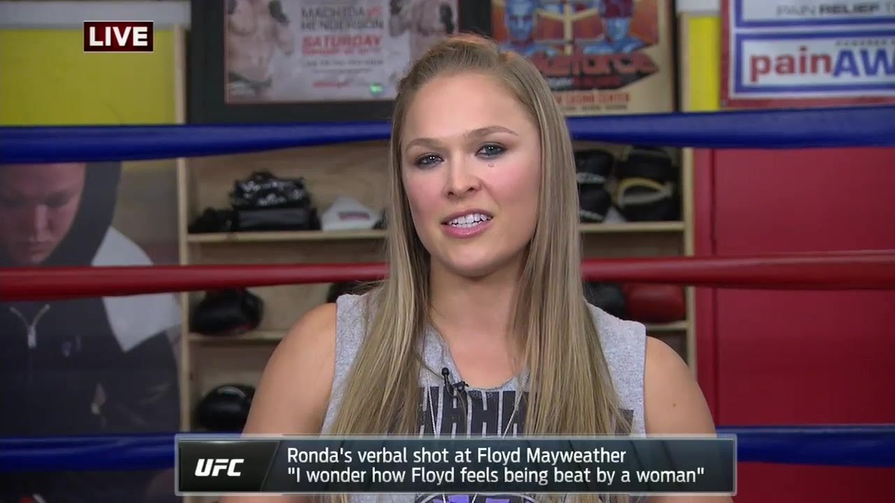 Ronda Rousey says she waited to find the right time to call out Floyd Mayweather #EsperanzaMia