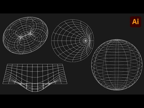 How to make 3D Wireframe graphics in Adobe Illustrator