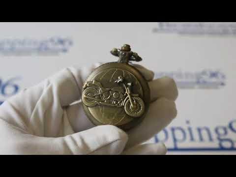 Видео обзор карманных часов с гравировкой мотоцикла на крышке