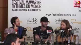 Conférence de presse avec Maroon 5 à Mawazine 2015 sur HIT RADIO