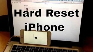 Hard reset iphone 6,5s,5c,5,4s,4 (reset to factory settings)