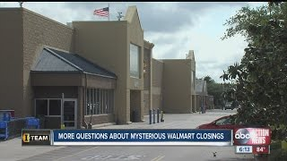 More questions about mysterious Walmart closings