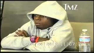 Lil Wayne acting a *donkey* in court