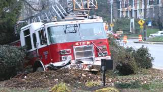 911 FIRE Trucks crash while responding