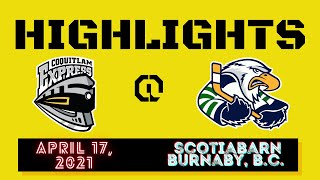 HIGHLIGHTS: Coquitlam Express @ Surrey Eagles – April 17th, 2021