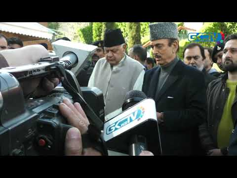 Azad speaks to press after meeting Farooq Abdullah; demands release of Omar, Mehbooba