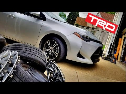 Installing Subaru BRZ Wheels on a Toyota Corolla