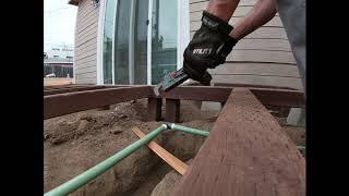 installing gas line underground