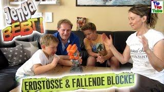 Achtung Erdbeben wir spielen JENGA BEBT spannendes Wackelturm Spiel TipTapTube Kinderkanal
