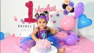Aashvis First Birthday Cake Smash & Photoshoot At Home